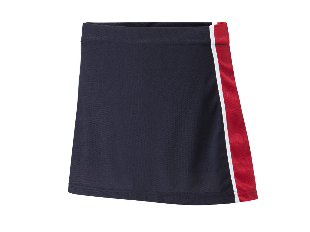Material – ProActive 100% Airmesh Polyester with Cotton/Elastane inner. Designed for a fitted lookFabric composition ensures freedom of movement. Flat elasticated waistband. Fabric weight 190g skort/220g inner