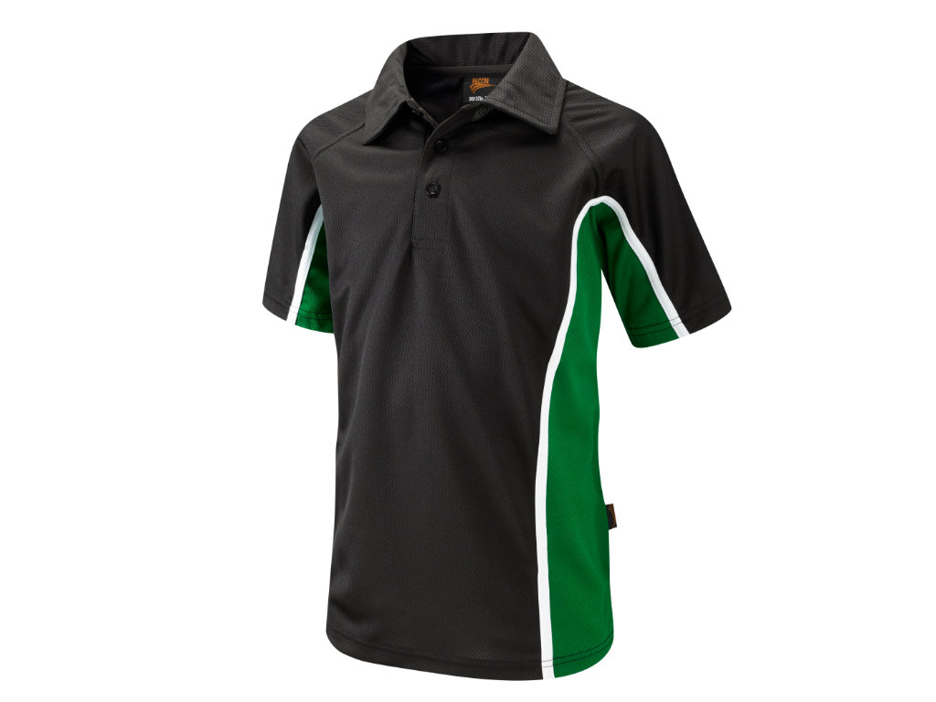 Material – ProActive 100% Airmesh PolyesterLoose fit for greater mobility. Seam Covered Neck. 3 Button Placket with fabric collar. Fabric weight 190g